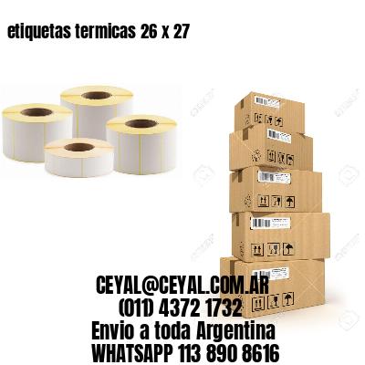 etiquetas termicas 26 x 27