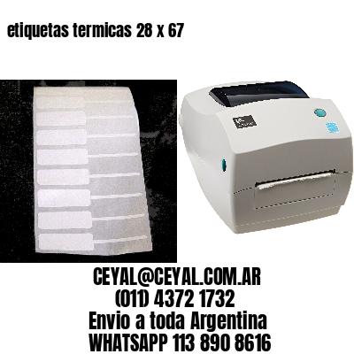 etiquetas termicas 28 x 67