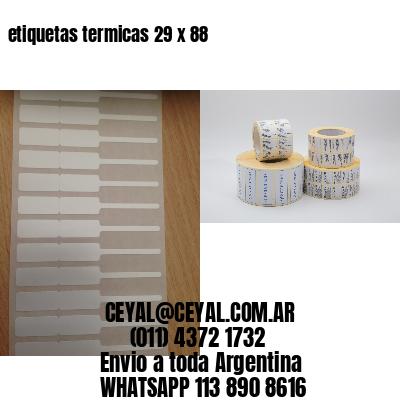 etiquetas termicas 29 x 88
