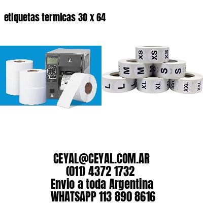 etiquetas termicas 30 x 64