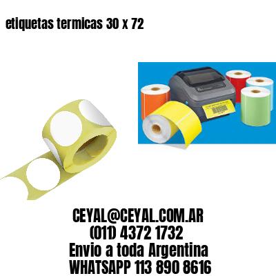 etiquetas termicas 30 x 72
