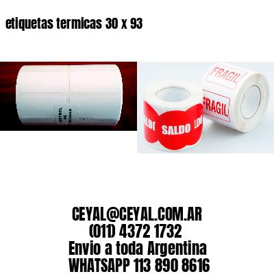 etiquetas termicas 30 x 93