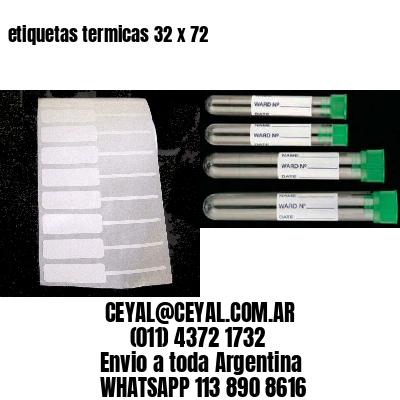 etiquetas termicas 32 x 72