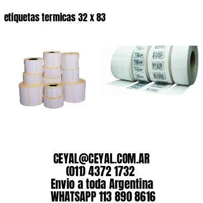 etiquetas termicas 32 x 83