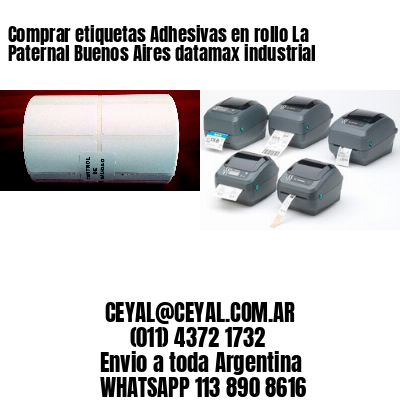 Comprar etiquetas Adhesivas en rollo La Paternal Buenos Aires datamax industrial