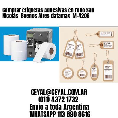 Comprar etiquetas Adhesivas en rollo San Nicolás  Buenos Aires datamax  M-4206