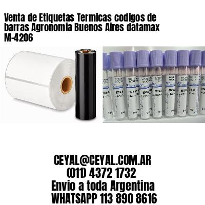 Venta de Etiquetas Termicas codigos de barras Agronomia Buenos Aires datamax  M-4206