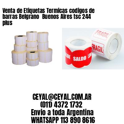 Venta de Etiquetas Termicas codigos de barras Belgrano  Buenos Aires tsc 244 plus