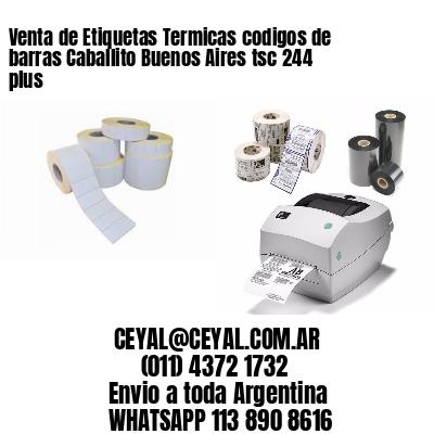 Venta de Etiquetas Termicas codigos de barras Caballito Buenos Aires tsc 244 plus
