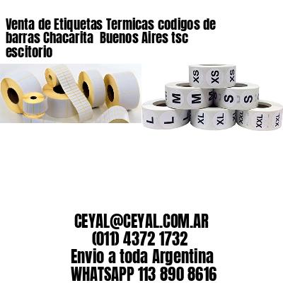 Venta de Etiquetas Termicas codigos de barras Chacarita  Buenos Aires tsc escitorio