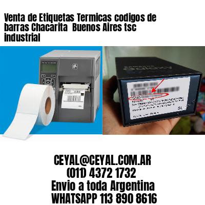 Venta de Etiquetas Termicas codigos de barras Chacarita  Buenos Aires tsc industrial