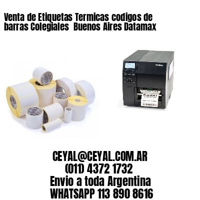 Venta de Etiquetas Termicas codigos de barras Colegiales  Buenos Aires Datamax