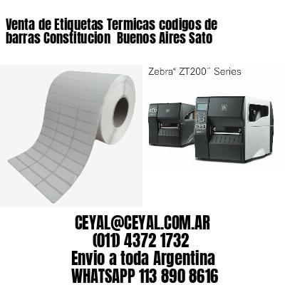 Venta de Etiquetas Termicas codigos de barras Constitucion  Buenos Aires Sato