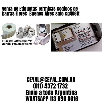 Venta de Etiquetas Termicas codigos de barras Flores  Buenos Aires sato cg408tt