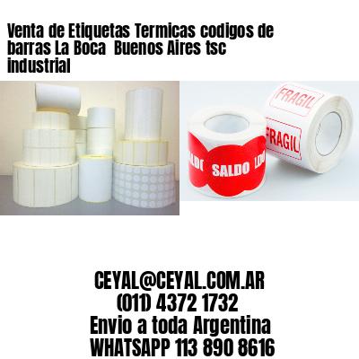 Venta de Etiquetas Termicas codigos de barras La Boca  Buenos Aires tsc industrial