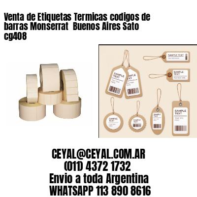 Venta de Etiquetas Termicas codigos de barras Monserrat  Buenos Aires Sato cg408
