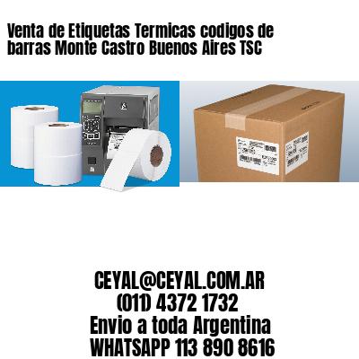 Venta de Etiquetas Termicas codigos de barras Monte Castro Buenos Aires TSC