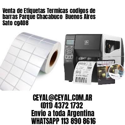 Venta de Etiquetas Termicas codigos de barras Parque Chacabuco  Buenos Aires Sato cg408
