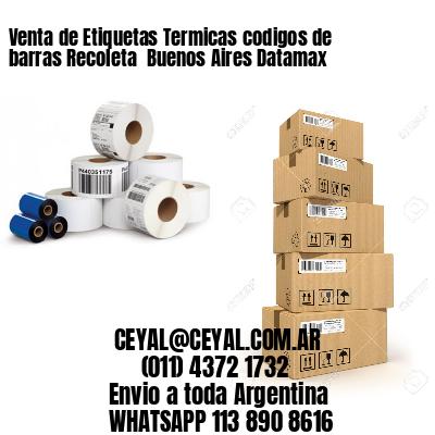 Venta de Etiquetas Termicas codigos de barras Recoleta  Buenos Aires Datamax