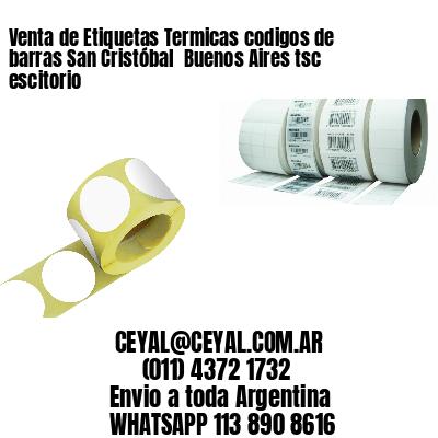 Venta de Etiquetas Termicas codigos de barras San Cristóbal  Buenos Aires tsc escitorio