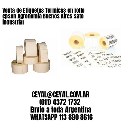 Venta de Etiquetas Termicas en rollo epson Agronomia Buenos Aires sato industrial