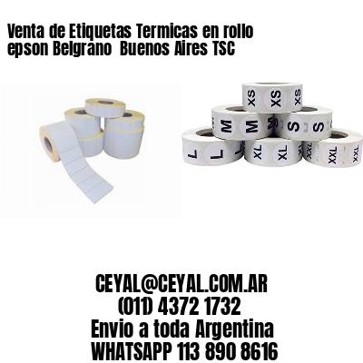 Venta de Etiquetas Termicas en rollo epson Belgrano  Buenos Aires TSC