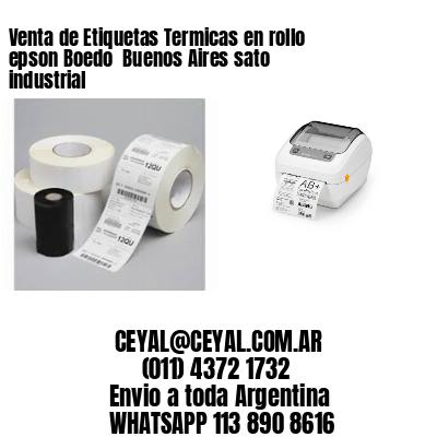 Venta de Etiquetas Termicas en rollo epson Boedo  Buenos Aires sato industrial