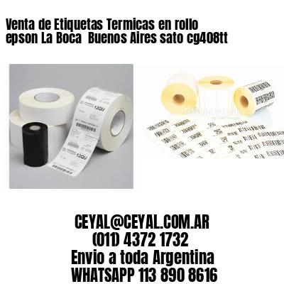 Venta de Etiquetas Termicas en rollo epson La Boca  Buenos Aires sato cg408tt