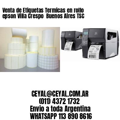 Venta de Etiquetas Termicas en rollo epson Villa Crespo  Buenos Aires TSC
