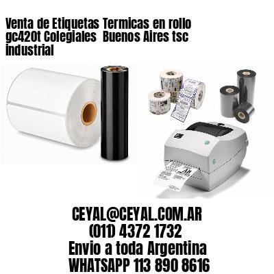 Venta de Etiquetas Termicas en rollo gc420t Colegiales  Buenos Aires tsc industrial