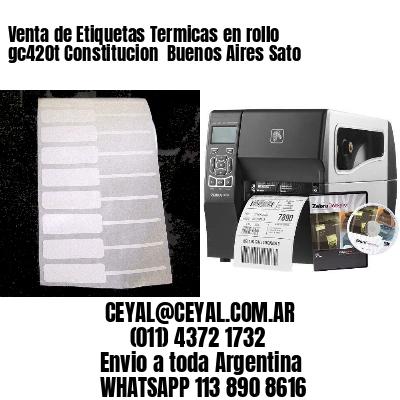 Venta de Etiquetas Termicas en rollo gc420t Constitucion  Buenos Aires Sato