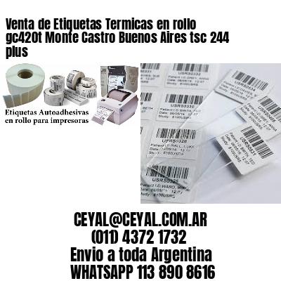 Venta de Etiquetas Termicas en rollo gc420t Monte Castro Buenos Aires tsc 244 plus