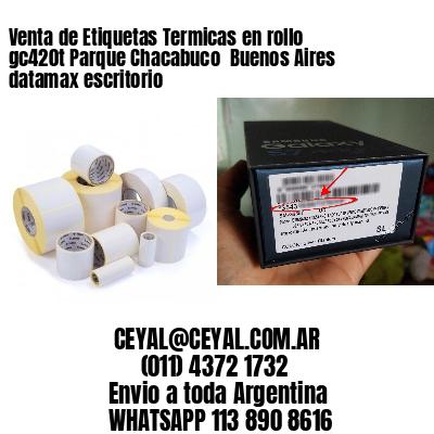 Venta de Etiquetas Termicas en rollo gc420t Parque Chacabuco  Buenos Aires datamax escritorio