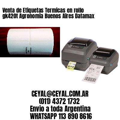 Venta de Etiquetas Termicas en rollo gk420t Agronomia Buenos Aires Datamax
