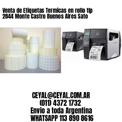 Venta de Etiquetas Termicas en rollo tlp 2844 Monte Castro Buenos Aires Sato