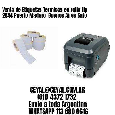 Venta de Etiquetas Termicas en rollo tlp 2844 Puerto Madero  Buenos Aires Sato