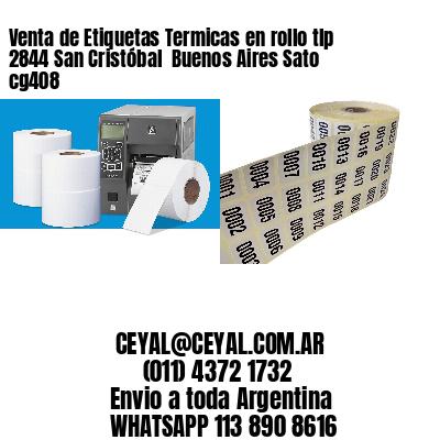 Venta de Etiquetas Termicas en rollo tlp 2844 San Cristóbal  Buenos Aires Sato cg408