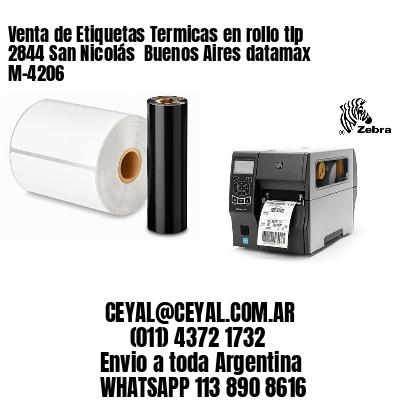 Venta de Etiquetas Termicas en rollo tlp 2844 San Nicolás  Buenos Aires datamax  M-4206
