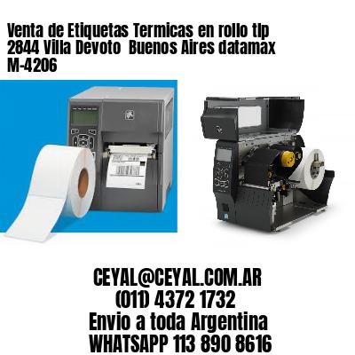 Venta de Etiquetas Termicas en rollo tlp 2844 Villa Devoto  Buenos Aires datamax  M-4206