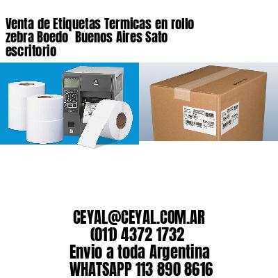 Venta de Etiquetas Termicas en rollo zebra Boedo  Buenos Aires Sato escritorio