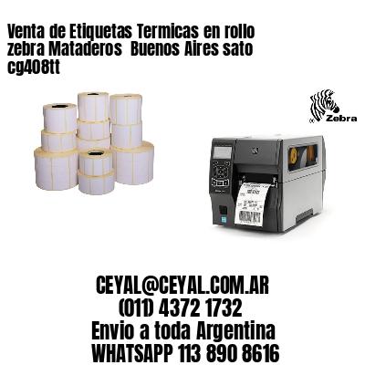 Venta de Etiquetas Termicas en rollo zebra Mataderos  Buenos Aires sato cg408tt