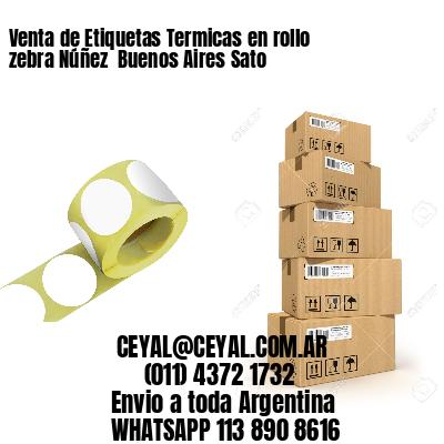 Venta de Etiquetas Termicas en rollo zebra Núñez  Buenos Aires Sato
