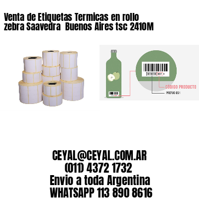 Venta de Etiquetas Termicas en rollo zebra Saavedra  Buenos Aires tsc 2410M