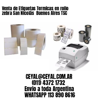Venta de Etiquetas Termicas en rollo zebra San Nicolás  Buenos Aires TSC