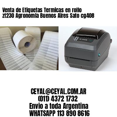 Venta de Etiquetas Termicas en rollo zt230 Agronomia Buenos Aires Sato cg408