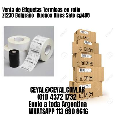 Venta de Etiquetas Termicas en rollo zt230 Belgrano  Buenos Aires Sato cg408