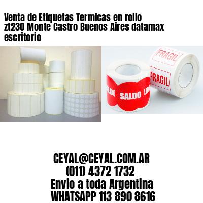Venta de Etiquetas Termicas en rollo zt230 Monte Castro Buenos Aires datamax escritorio