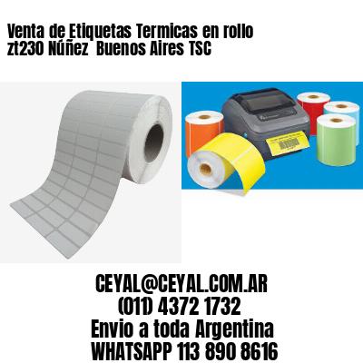 Venta de Etiquetas Termicas en rollo zt230 Núñez  Buenos Aires TSC
