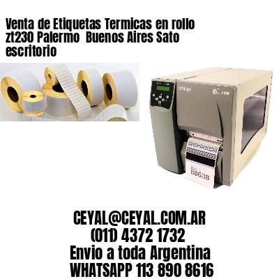 Venta de Etiquetas Termicas en rollo zt230 Palermo  Buenos Aires Sato escritorio