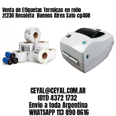 Venta de Etiquetas Termicas en rollo zt230 Recoleta  Buenos Aires Sato cg408